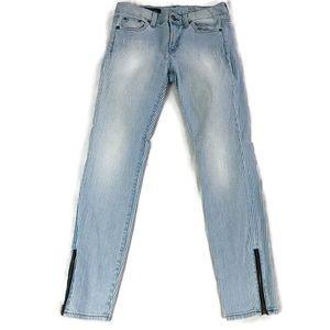 J Crew Toothpick Ankle Striped Jeans Sz 25